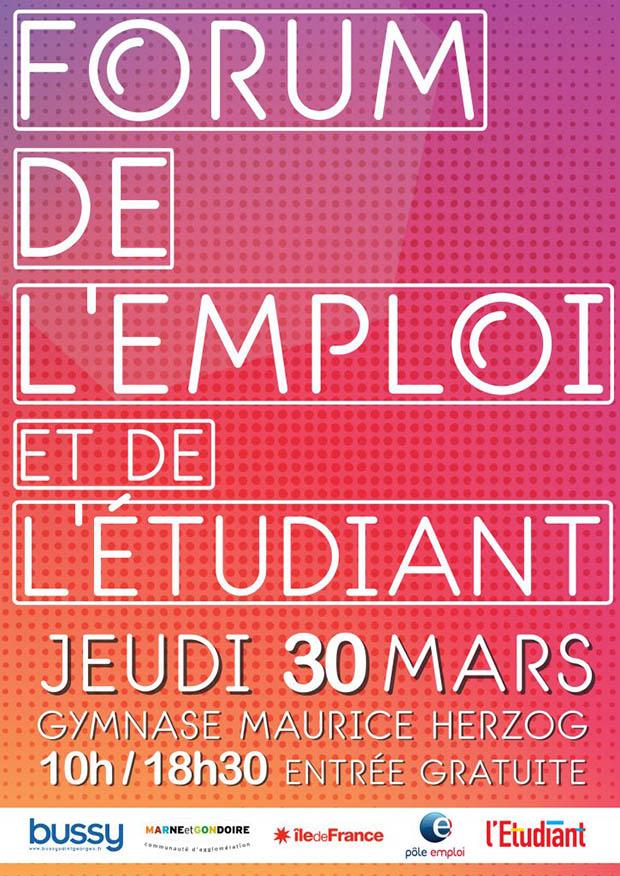 Forum de l'emploi et de l'étudiant de Bussy-Saint-Georges