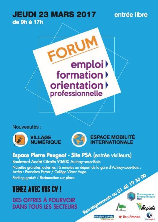 forum emploi aulnay-sous-bois