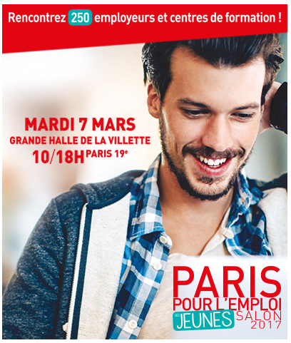 Paris pour l 39 emploi des jeunes salon 2017 mission locale for Salon de l orientation paris 2017
