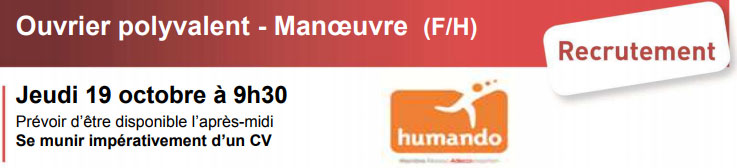 recrutement   ouvrier polyvalent - manoeuvre  f  h  iae