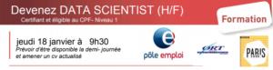 Devenez DATA SCIENTIST (H/F)