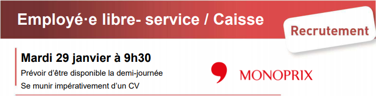 recrutement   employ u00e9 u00b7e libre- service    caisse